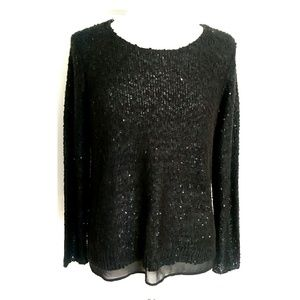 Alfani Sequined black sweater